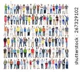 people diversity success... | Shutterstock . vector #267329102
