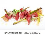 chopped and smoked duck breast  ... | Shutterstock . vector #267332672