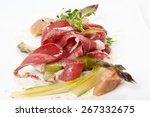 appetizer with smoked duck... | Shutterstock . vector #267332675
