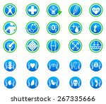 vector medical icons | Shutterstock .eps vector #267335666