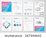 infographic business brochure... | Shutterstock .eps vector #267344642
