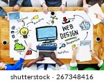 content creativity digital... | Shutterstock . vector #267348416