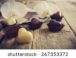 chocolate candy in the form of... | Shutterstock . vector #267353372