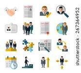 human resources personnel... | Shutterstock .eps vector #267364952