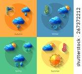 seasons weather forecast design ... | Shutterstock .eps vector #267372212