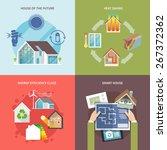 energy saving house design... | Shutterstock .eps vector #267372362