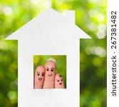 Finger Art Of Family. People...
