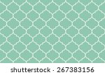 seamless turquoise wide... | Shutterstock .eps vector #267383156