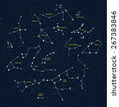 vector sky map  constellations  ... | Shutterstock .eps vector #267383846