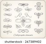 calligraphic design elements... | Shutterstock .eps vector #267389402