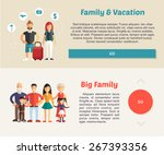 family vacation and big family. ... | Shutterstock .eps vector #267393356