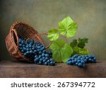 Still Life With Grapes On A...