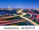 Washington  d.c. skyline with...