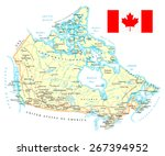 map of canada   detailed... | Shutterstock .eps vector #267394952