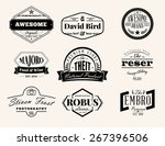 set of retro vintage badges and ... | Shutterstock .eps vector #267396506
