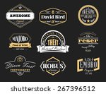 set of retro vintage badges and ... | Shutterstock .eps vector #267396512