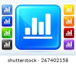 bar graph colorful square button | Shutterstock .eps vector #267402158