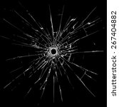 bullet hole in glass | Shutterstock .eps vector #267404882