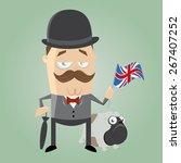 british man illustration | Shutterstock .eps vector #267407252