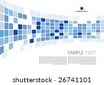 blue abstract background | Shutterstock .eps vector #26741101