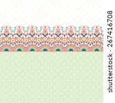vector card. beautiful floral... | Shutterstock .eps vector #267416708
