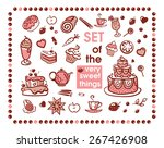 set of many sweet things | Shutterstock .eps vector #267426908