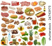 food collection isolated on... | Shutterstock . vector #26743975