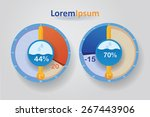 info graphics. figure weather... | Shutterstock .eps vector #267443906
