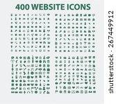 400 website  business ... | Shutterstock .eps vector #267449912