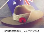 Anzac Army Slouch Hat With...