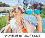 Woman Drinking Power Drinking...