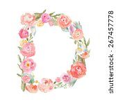 Watercolor Floral Monogram...