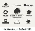 mammoth silhouette vector logo... | Shutterstock .eps vector #267466592