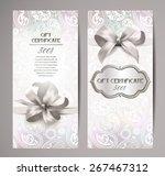 elegant white gift certificates ... | Shutterstock .eps vector #267467312