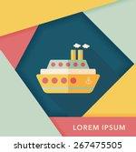 transportation ferry flat icon... | Shutterstock .eps vector #267475505