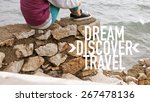dream discover travel  ... | Shutterstock . vector #267478136