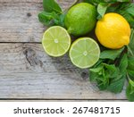 juicy ripe citrus on an old...