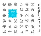 outline web icon set   journey  ... | Shutterstock .eps vector #267485228