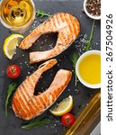 Grilled Salmon And White Wine...