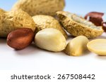 several peanuts shelled and...   Shutterstock . vector #267508442