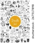 big doodle set   coffee  tea ...   Shutterstock .eps vector #267517898