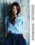 beautiful sensual woman in...   Shutterstock . vector #267520202