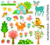 stickers designs with cute... | Shutterstock .eps vector #267539846