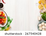 italian food cooking... | Shutterstock . vector #267540428