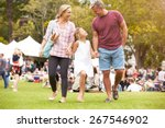 family relaxing at outdoor... | Shutterstock . vector #267546902