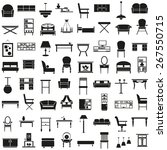 black icons on the theme of the ... | Shutterstock .eps vector #267550715