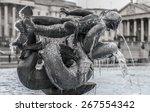 Frozen Fountain On Trafalgar...