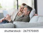 mature couple using digital... | Shutterstock . vector #267570305
