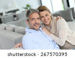 portrait of mature couple... | Shutterstock . vector #267570395