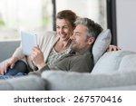mature couple using digital...   Shutterstock . vector #267570416